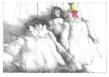 Paul Flora - Drei Marionetten