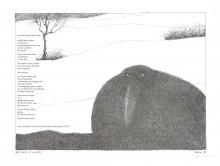 Paul Flora - Ein Rabe im Winter – handsigniert