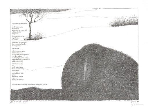 Paul Flora Ein Rabe im Winter