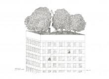 Paul Flora - Penthouse für einen Dichter