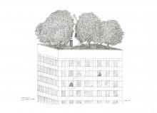 Paul Flora Penthouse für einen Dichter