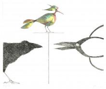 Paul Flora - Rabe, Schere, Vogel