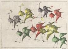 Paul Flora - 24. Acht Vögel
