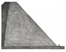 Paul Flora - Architekt vor Pyramide