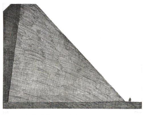 Paul Flora Napoleon vor der Pyramide