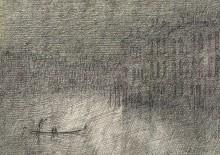 Paul Flora Canal Grande, Nebel