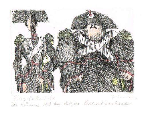 Paul Flora Der dünne und der dicke Carabiniere