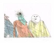 Paul Flora - Drei Masken