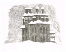 Paul Flora - Leeres Haus