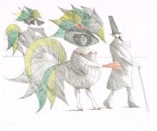 Paul Flora Manieristische Damen