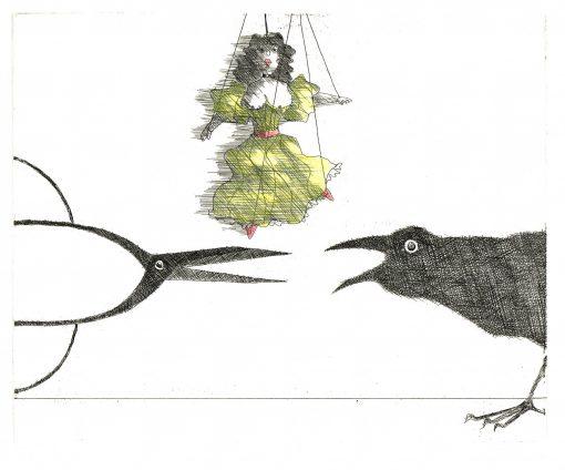 Paul Flora Marionette, Schere, Rabe