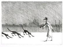 Paul Flora - Monsieur Corbeau und Katzen