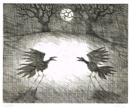 Paul Flora Nachtvögel