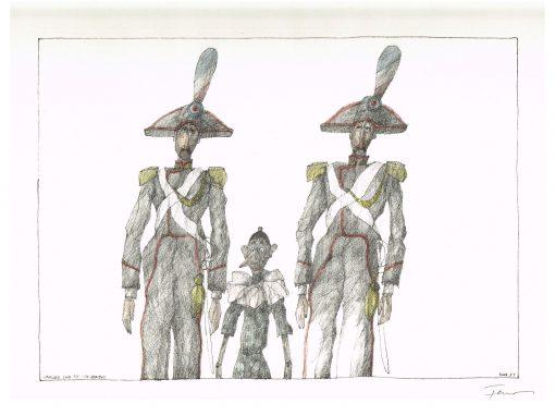 Paul Flora Pinocchio und die Carabinieri