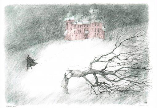 Poster von Paul Flora Draculas Home