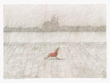 Poster von Paul Flora La Guidecca mit vornehmem Hund