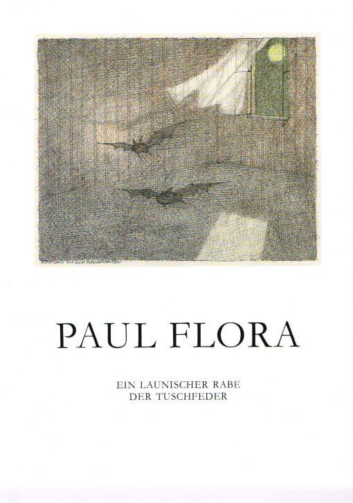 Broschüre Paul Flora Ein launischer Raben der Tuschfeder