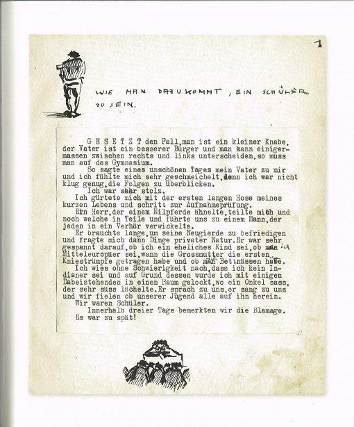 Neuerscheinung Buch-Neuauflage von Paul Flora Aus den Memoiren eines Mittelschülers, Seite 25