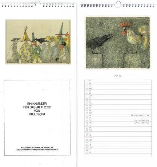 Paul Flora Einschreibe-Kalender für 2022